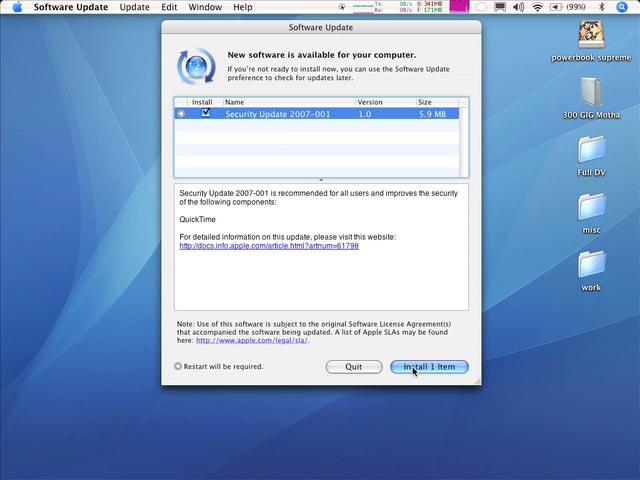2.1 Update Your Mac