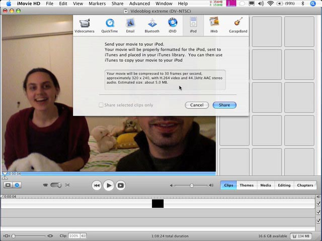 4.1 Compress For The Web (iMovie)